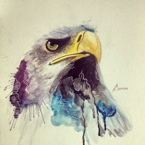 The colors fade nicely with the eagle head -Annie