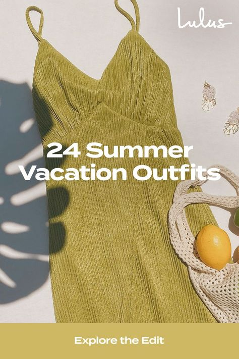 Lulus 24 Summer Vacation Outfits are perfect if you've got an actual trip planned or you're dreaming about a beach vacation. It's never too early to start planning your vacation outfits. Head to Lulus.com/blog for more fashion inspiration. #lovelulus