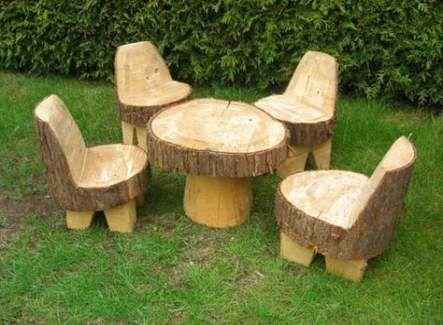 Garden Furniture Table Tree Stumps 20