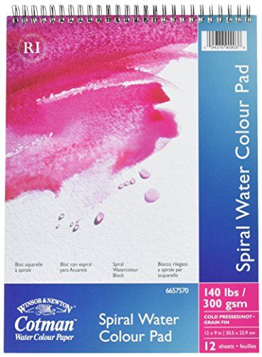 Reeves 12 Sheets 140 Lb Cotman Spiral Bound Water Color Paper 9