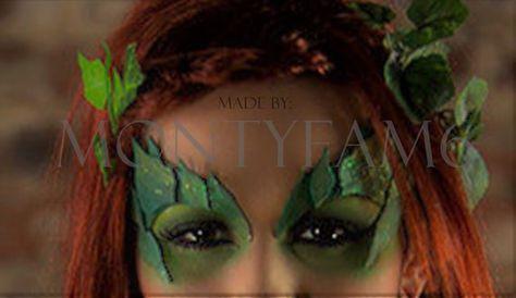 Poison Ivy Leaves Eyebrow Eye mask Green Blend Dusted w/ GLITTER Leaf Uma Thurman ELF fairy cosplay