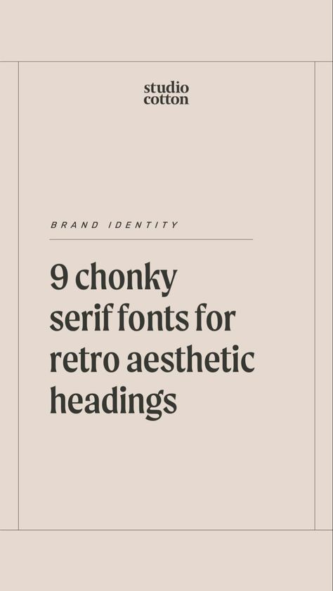 9 chonky serif fonts for a retro aesthetic brand typography and headings