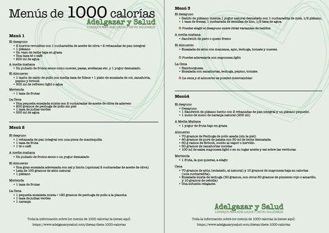 menus dieta hipocalorica 1000 calorias
