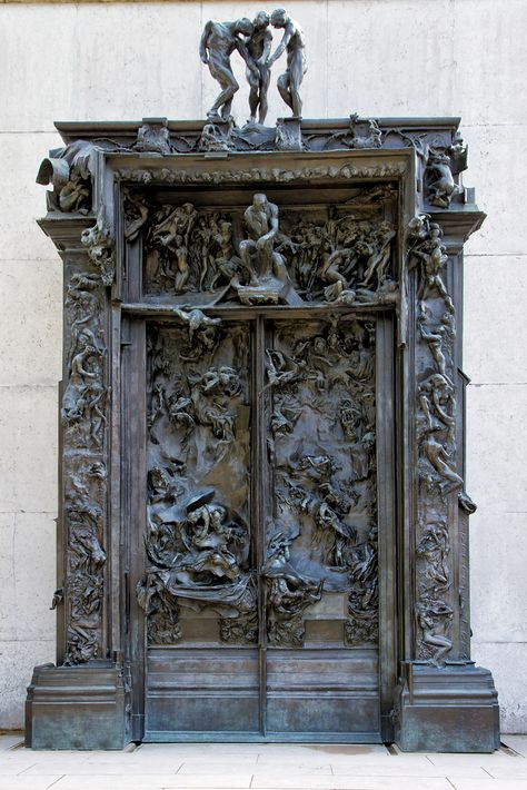 """The Gates of Hell (French: La Porte de l'Enfer) by French artist Auguste Rodin that depicts a scene from """"The Inferno"""", the first section of Dante Alighieri's Divine Comedy.I got to see this at the Rodin Museum last summer. Cool Doors, The Doors, Unique Doors, Windows And Doors, Auguste Rodin, Art And Architecture, Architecture Details, Tor Design, Gates Of Hell"""