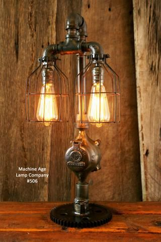 EDWARD Wall Light Lamp 3 light Industrial Style Vintage Retro CE MARKED Huis
