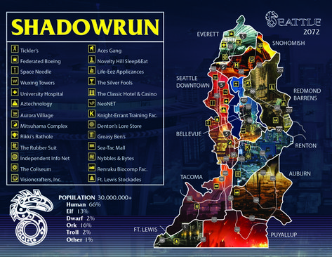 shadowrun 5th edition seattle map 32 Best Shadowrun Images Shadowrun Cyberpunk Character Cyberpunk