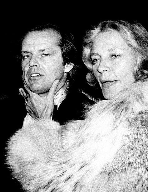 Jack Nicholson with Lauren Bacall
