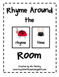 Rhyme Around the Room @Teach it with Class FREEBIE