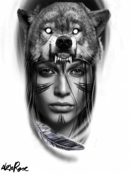Indian Tattoos Native Tattoos Wolf Tattoos Indian Chief Tattoos Tattoo Designs Tattoo Wolf Tattoos Indian Chief Tattoo Indian Tattoo