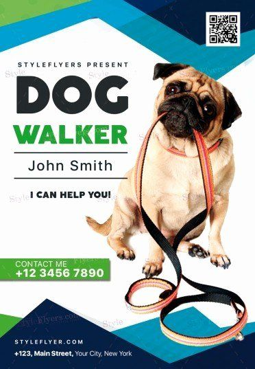 Free Dog Walking Flyer Template Best Of Dog Walker Psd Flyer