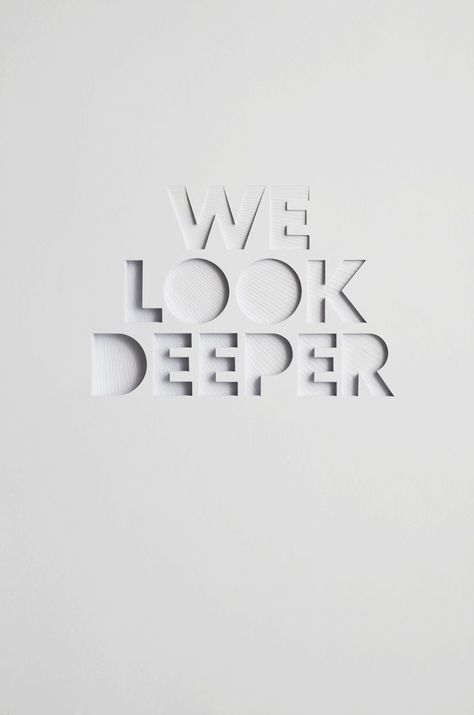 OPSM We Look Deeper Campaign - Hand cut paper Sculptures by .-OPSM We Look Deeper Campaign – Hand cut paper Sculptures by Bianca Chang – OPSM We Look Deeper Campaign – Hand cut paper Sculptures by Bianca Chang – - Logo Design, Design Poster, Type Design, Graphic Design Typography, 3d Poster, Quote Design, Design Art, Typography Drawing, Paper Cut Design