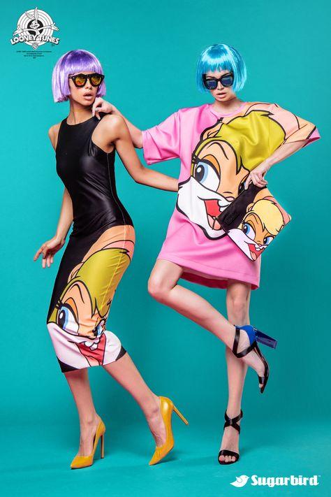 Cartoon Printing Long T-shirt Dress