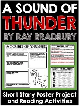 Sound Of Thunder By Ray Bradbury Short Story Unit With Poster