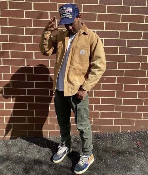 Dope Outfits For Guys, Stylish Mens Outfits, Hip Hop Outfits, Mode Outfits, Mode Streetwear, Streetwear Fashion, Workwear Fashion, Black Men Street Fashion, Vetement Fashion