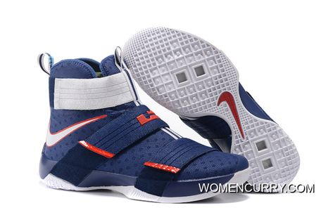 c1e85aecf8459  USA  Nike LeBron Soldier 10 Obsidian White-University Red New Release