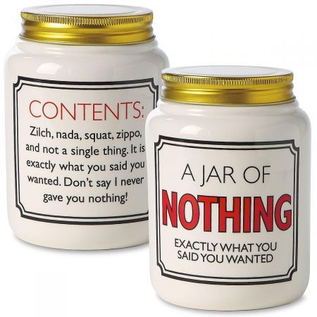 A Jar Of Nothing Homemade Anniversary Gifts Christmas Gift For Dad Funny Christmas Gifts