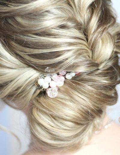 Sehr Elegante Und Edle Brautfrisur Fur Uberschulterlanges Haar Bridalhair Weddinghair Hochsteckfrisur Loc Brautfrisur Frisuren Hochzeitsfrisuren Geflochten
