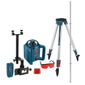 Bosch 800 Ft Self Leveling Rotary Laser Level Kit With Carrying Case Grl 240 Hvck With Images Laser Levels Bosch Installing Cabinets