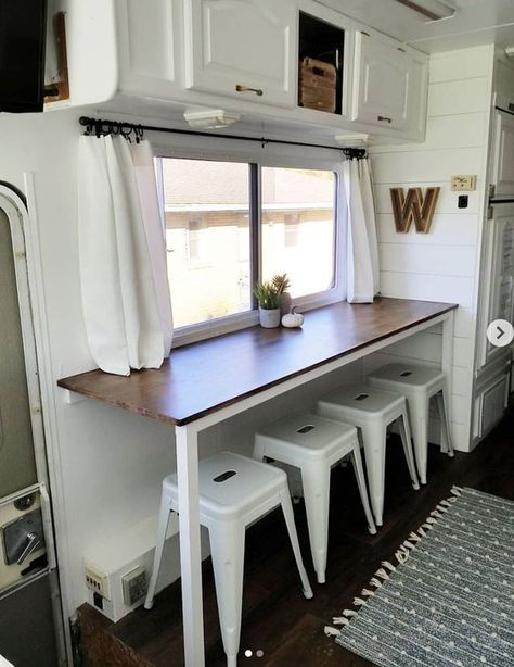 20 Inspiring RV makeovers and renovations, and a peek at our RV camper trailer b. 20 Inspiring RV makeovers and renovations, and a peek at our RV camper trailer before we renovate. Trailers Camping, Camper Trailers, Rv Camping, Glamping, Camping Hacks, Boler Trailer, Coleman Camping, Camping Foods, Vintage Campers Trailers