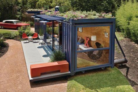 Uma casa de hóspede feita com apenas 1 container