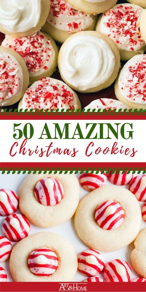50 Amazing Christmas Cookies to Delight Your Guests Looking for inspiration on what to bake this holiday season? We've done the research for you and collected 50 of the best recipes for Christmas Cookies. Christmas Snacks, Christmas Cooking, Christmas Candy, Holiday Treats, Holiday Recipes, Christmas Parties, Dinner Recipes, Christmas Time, Easy Christmas Baking Recipes