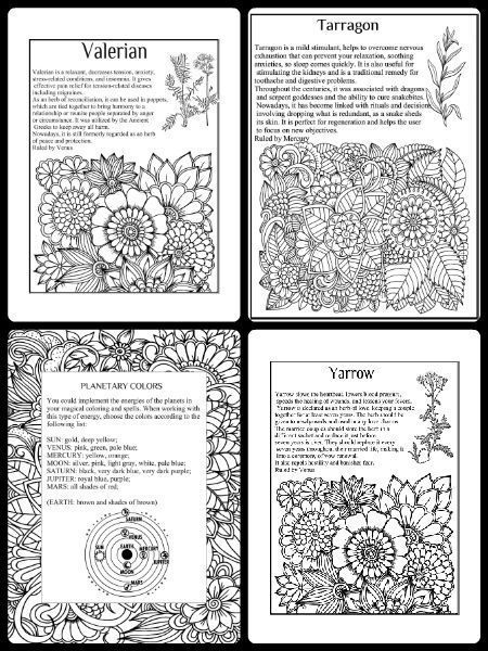 Pagan Symbols Free Coloring Pages Wiccan Book Of Shadows Good Luck