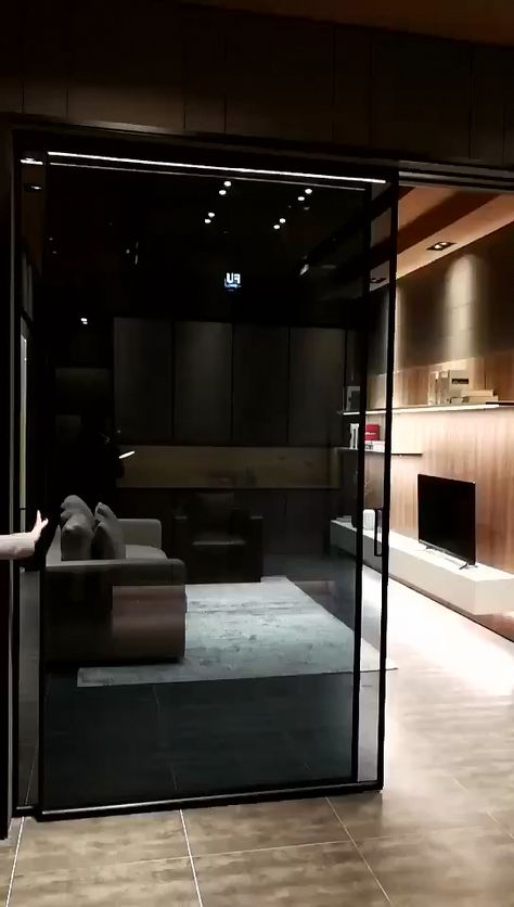 Magnetic sliding door system for home automation #interiorideas