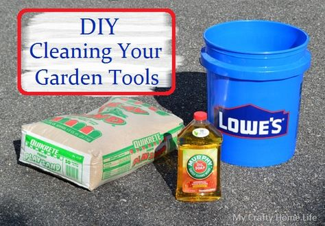 How To Clean Your Garden Tools When You Put Them Away At The End Of The Season.