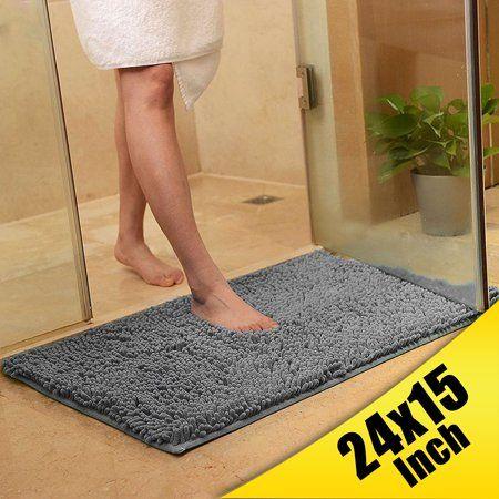 80x50cm 60x40cm Soft Microfibre Shaggy Non Slip Absorbent Bath