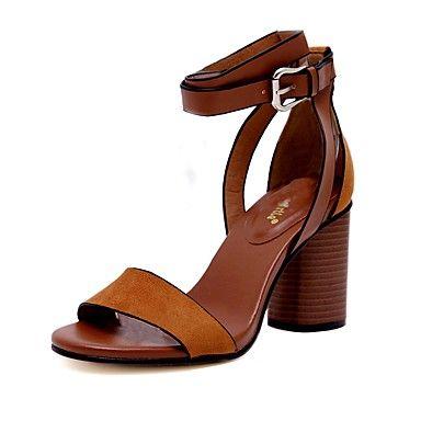 ade25edf07a5 Mujer Zapatos Cuero Primavera Verano Talón Descubierto Sandalias ...