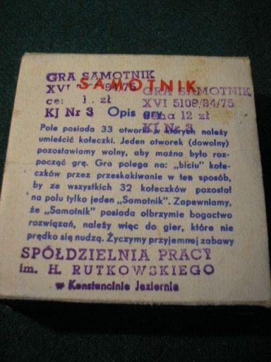 Gra Samotnik 2 Szt Opakowanie Z Prl 7556921681 Oficjalne Archiwum Allegro Smelling
