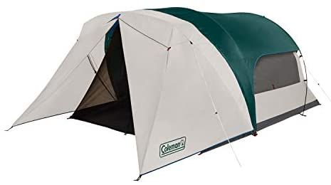 Amazon Com Coleman Cabin Camping Tent With Screen Room 6 Person Cabin Tent With Screened Porch Evergreen Sports Outd In 2021 Family Tent Camping Cabin Tent Tent