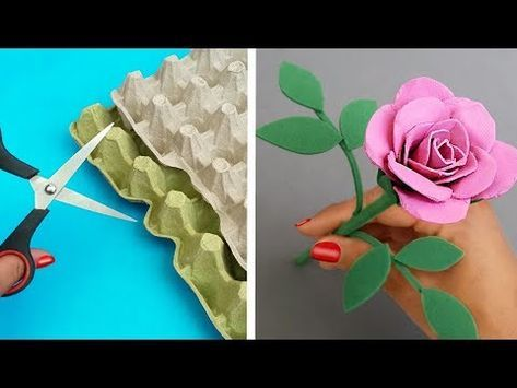 Diy Rosas Hermosas Con Cartón De Huevo Manualidades Fáciles Con Reciclaje Youtube Carton De Huevo Manualidades Manualidades Cartones De Huevos