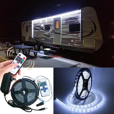 Remote Operation 12v Rv 16 4 White Led Awning Party Light For Camper Boat In 2020 Camper Awning Lights Camper Boat Camper Awnings