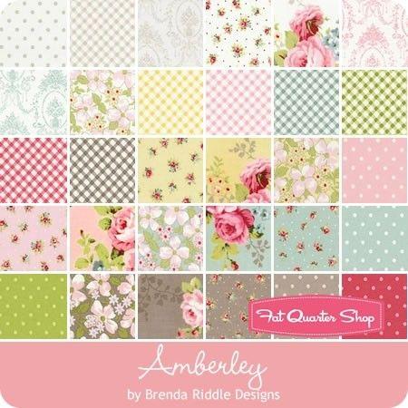 Little Rose Polka Dot Amberley Multiple Sizes White Moda Fabric Cotton