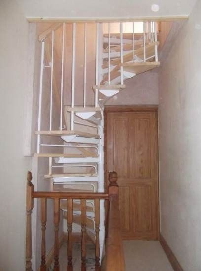 40 Best Ideas Attic Stairs Diy Spiral Staircases Attic Rooms | Converting Spiral Staircase To Straight | Stair Case | Building Regulations | Handrail | House | Attic Stairs