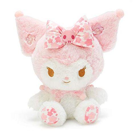 Kuromi Sanrio Plush Doll Stuffed toy Sakura Cherry Blossoms My Melody Japan F/S