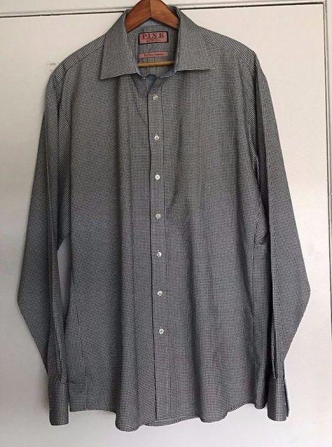 Men/'s Polka Dot French Cuff Cotton Dress Shirt w// Tie /& Hanky Set #613