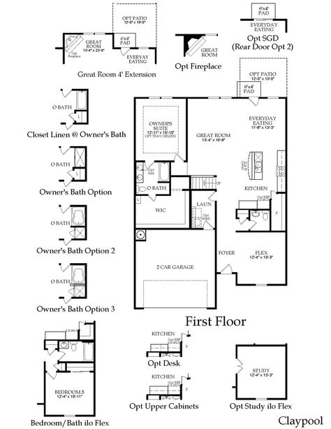 Centex Floor Plans | Centex Claypool Floor Plan Great Layout Dream House Plans Floor