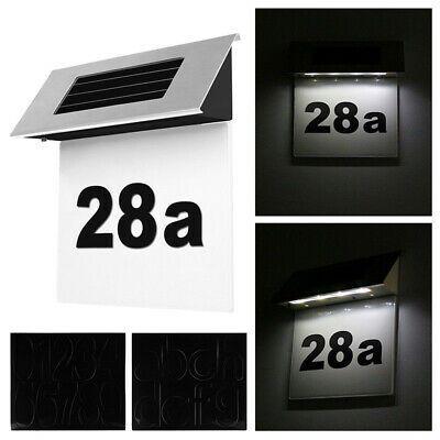 Solar Powered 4led Light Sign Hotel House Door Address Plaque Number Lamp Decor In 2020 Solar Power House Led Wall Lights Solar Powered Led Lights