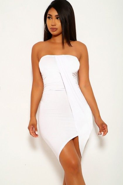 White Strapless Party Dress Affiliate Sponsored Strapless White Dress Party Strapless Party Dress Red Tube Dress Ball Dresses