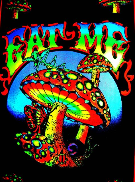 eat me. for a blacklight room Psychedelic art, Trippy