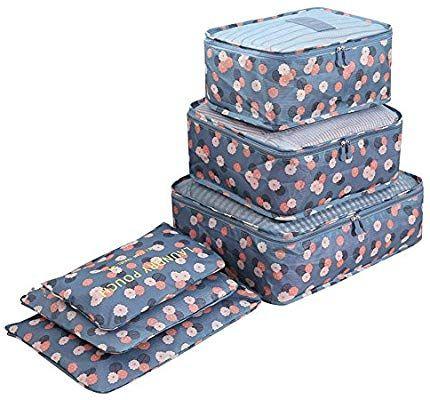 2 Umschl/äge Set 7 Kleidertaschen -3 Packw/ürfel 1 Beutel f/ür Unterw/äsche 1 Schuhbeutel(Black)