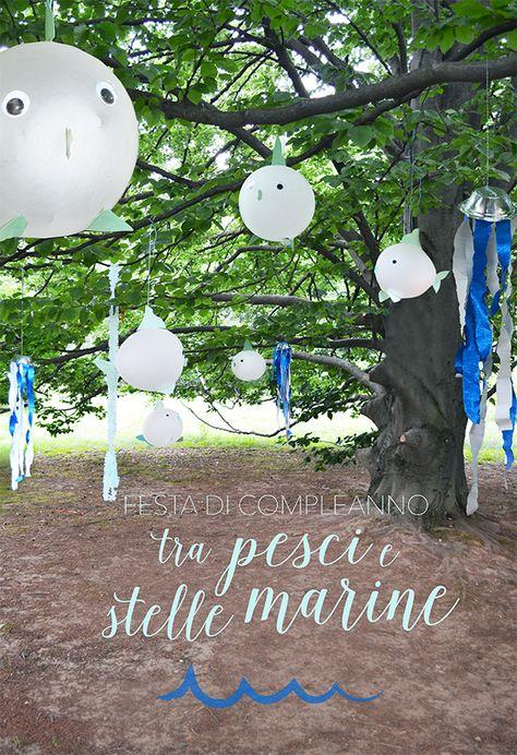 festa di compleanno nella foresta incantata dei pesci volanti  the flying fish-balloons enchanted forest - underwater birthday party  www.ArrivaLaCicogna.com