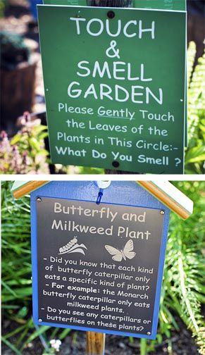 Education garden signs