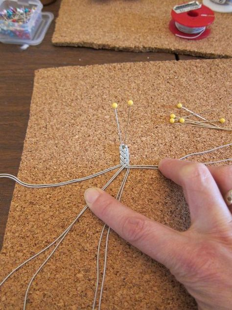Diy Jewelry Ideas : Tuto Bracelet sami - Sami bracelets are like the Viking posaments - DIY Loop Macrame Jewelry, Wire Jewelry, Jewelry Crafts, Jewelery, Handmade Jewelry, Jewelry Ideas, Gemstone Jewelry, Viking Knit Jewelry, Diy Viking Bracelet