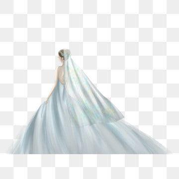 العروس Backcartoon عنصر يرتدي فستان زفاف أزرق فاتح العروس ارتداء فستان زفاف أزرق فاتح عروس Png وملف Psd للتحميل مجانا Light Blue Wedding Dress Light Blue Wedding Blue Wedding Dresses