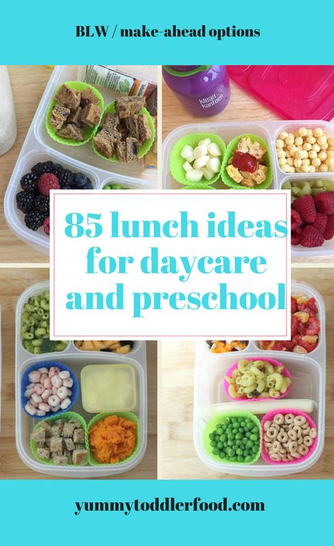 These easy ideas will help you pack your toddler's lunchbox for daycare or preschool with healthy foods they'll actually eat! These easy ideas will help you pack your toddler's lunchbox for daycare or preschool with healthy foods they'll actually eat! Toddler Lunch Box, Healthy Toddler Lunches, Healthy Sweet Snacks, Nutritious Snacks, Toddler Snacks, Healthy Snacks, Healthy Recipes, Kid Snacks, Toddler Daycare