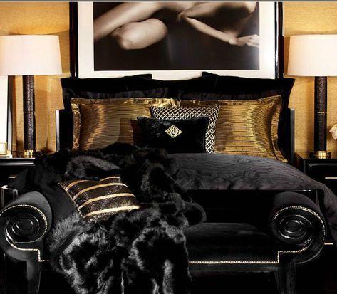 25++ Black and gold bedroom information