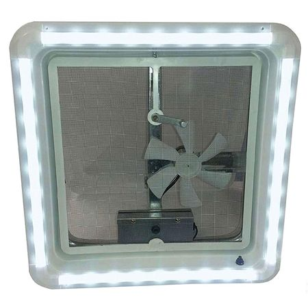 Heng S Hg Lr W Cw Aft Rv Chandelier Led Roof Vent White Trim Light Cool White Bulbs Trim Kit Trim Ring White Lenses